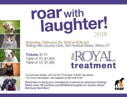 ROAR WITH LAUGHTER – February 24, 2018